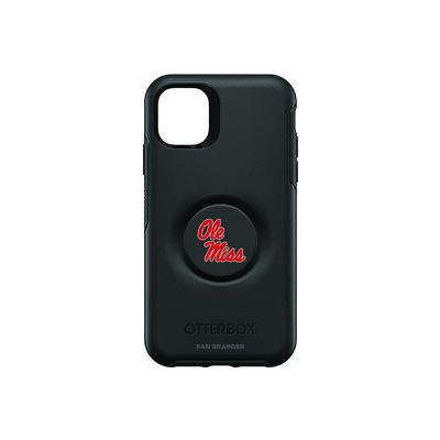 OTTERBOX BLACK IPHONE 11 OTTER + POP SYMMETRY CASE WITH MISSISSIPPI OLE MISS PRIMARY LOGO