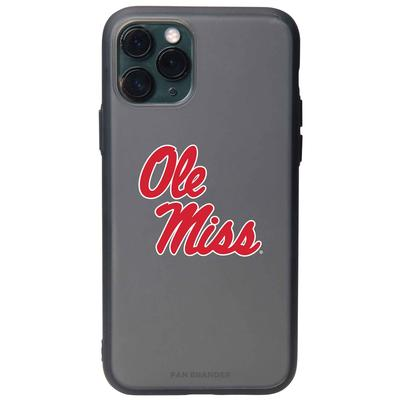 FAN BRANDER BLACK IPHONE 8 IPHONE 7 IPHONE 6 IPHONE 6S BLACK SLATE CASE WITH OLE MISS PRIMARY LOGO