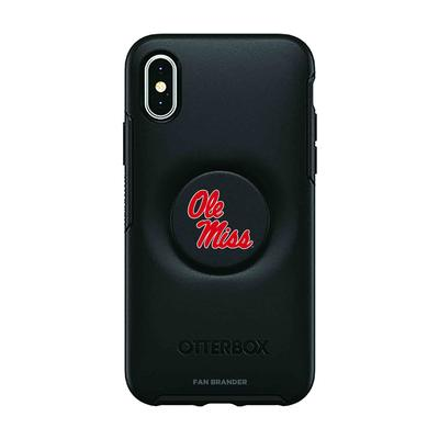 OTTERBOX BLACK IPHONE XS/X OTTER + POP SYMMETRY CASE WITH MISSISSIPPI OLE MISS PRIMARY LOGO