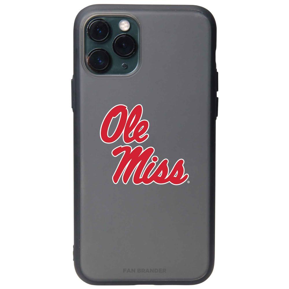 Fan Brander Black Iphone Xr Black Slate Case With Mississippi Ole Miss Primary Logo