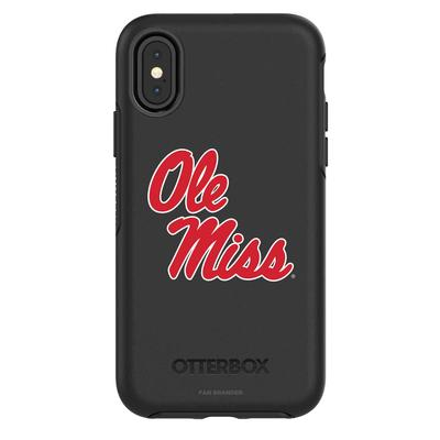 OTTERBOX BLACK IPHONE XR SYMMETRY CASE WITH MISSISSIPPI OLE MISS PRIMARY MARK DESIGN