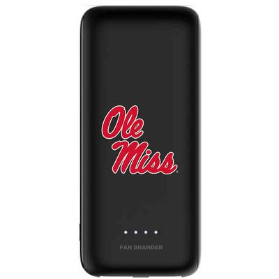 MOPHIE BLACK POWER BOOST MINI 5200 MAH CASE WITH MISSISSIPPI OLE MISS PRIMARY LOGO