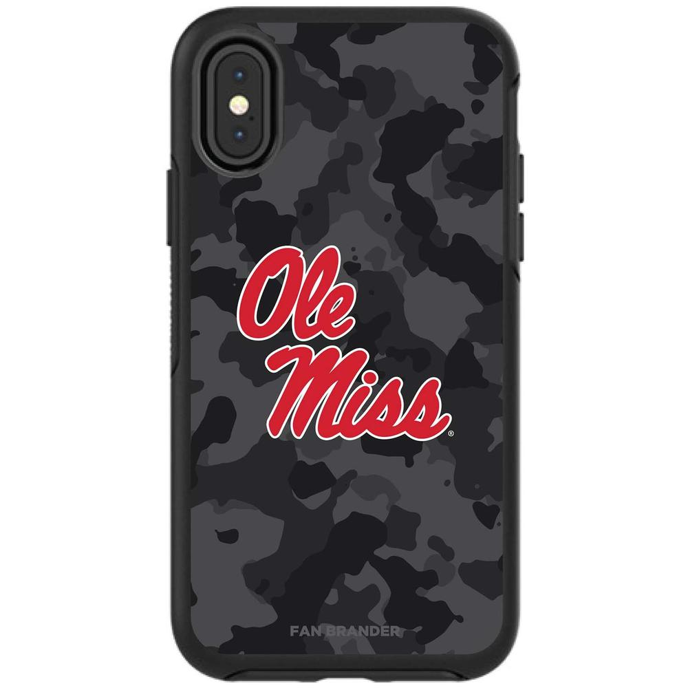 Otterbox Black Symmetry Series Case For Galaxy S9 + Case With Mississippi Ole Miss Logo With Urban Camo