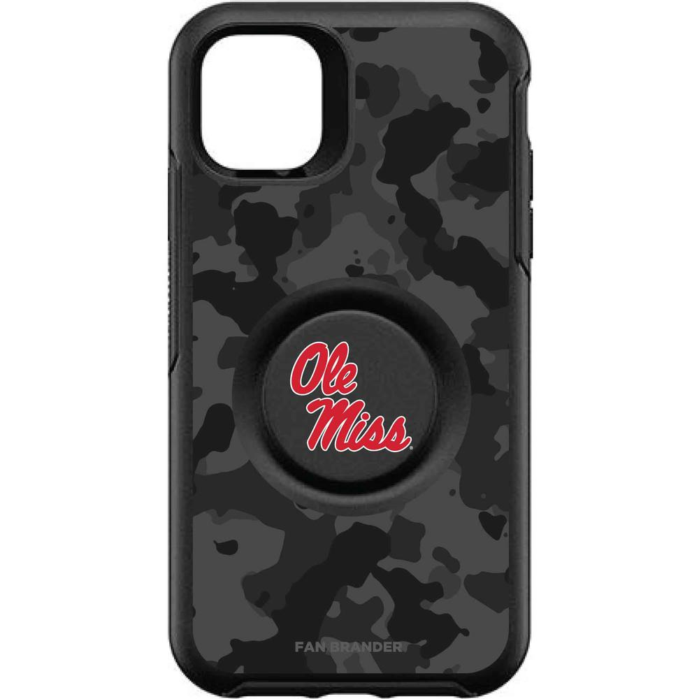 Otterbox Black Iphone 11 Otter + Pop Symmetry Case With Mississippi Ole Miss Logo With Urban Camo