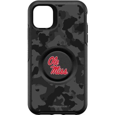 OTTERBOX BLACK IPHONE 11 OTTER + POP SYMMETRY CASE WITH MISSISSIPPI OLE MISS LOGO WITH URBAN CAMO BLACK