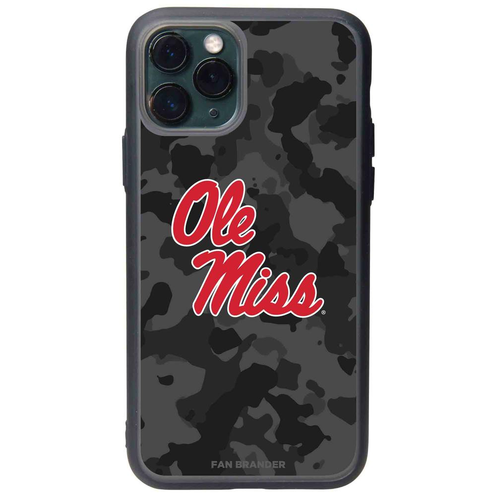 Fan Brander Black Iphone Xs Max Black Slate Case With Mississippi Ole Miss Urban Camo