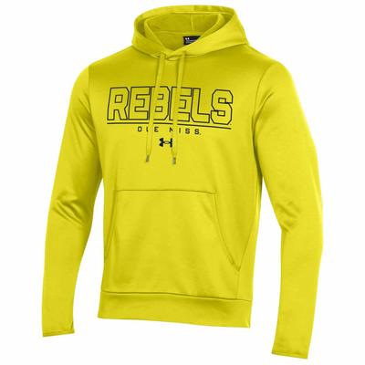 OLE MISS REBELS ARMOUR FLEECE PULLOVER HOOD