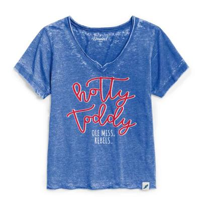 HOTTY TODDY WOMENS LOOSE FIT V-NECK ROYAL