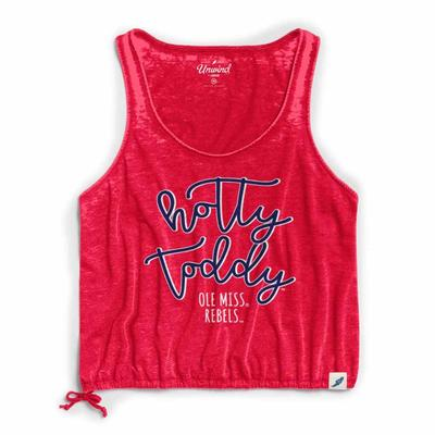 HOTTY TODDY WOMENS DRAWSTRING TANK RED