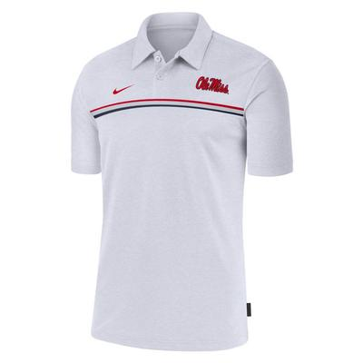 NIKE OLE MISS DRY POLO 2 WHITE
