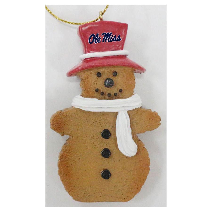 Ole Miss Gingerbread Man Ornament