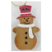 OLE MISS GINGERBREAD MAN ORNAMENT