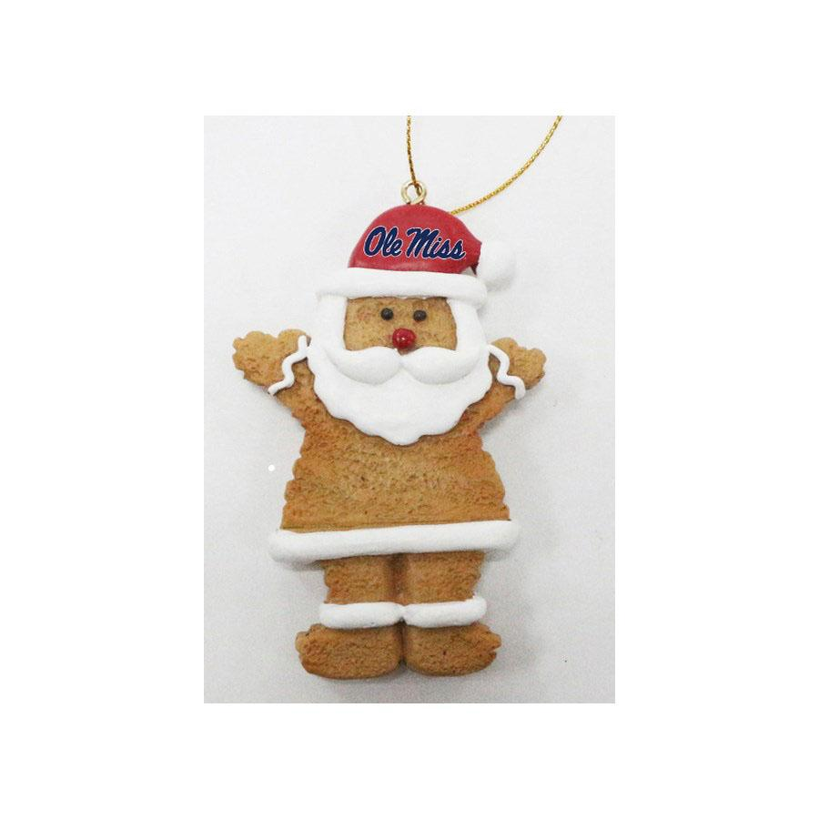 Ole Miss Santa Ornament