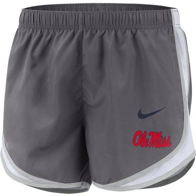 NIKE OLE MISS TEMP SHORTS GRAY
