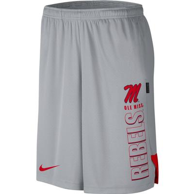 NIKE M DRY KNIT PLAYER SHORT GRAY