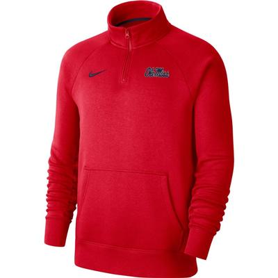OLE MISS QTR ZIP FLEECE TOP