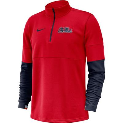 OLE MISS THERMA HALF ZIP TOP