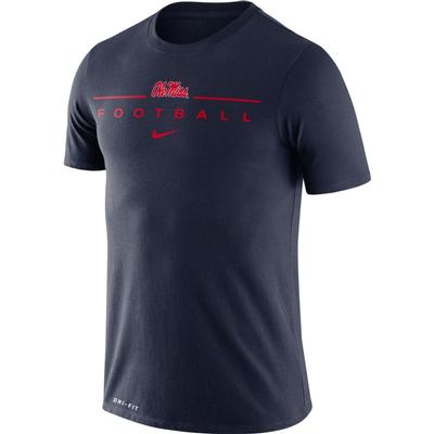 OLE MISS DFCT ICON WORD TEE NAVY