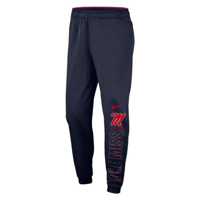 OLE MISS THERMA PANT NAVY