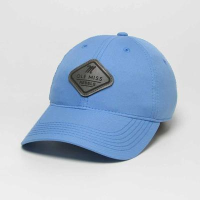 OLE MISS PATCH COOL-FIT ADJUSTABLE CAP LIGHT_BLUE