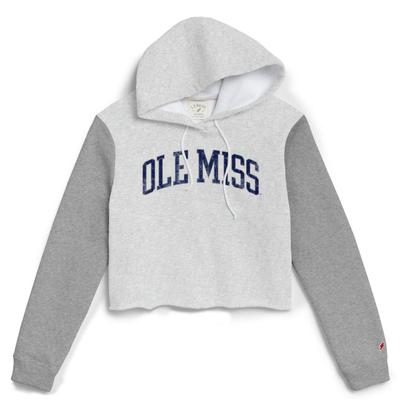 OLE MISS COLORBLOCK CROPPED HOOD