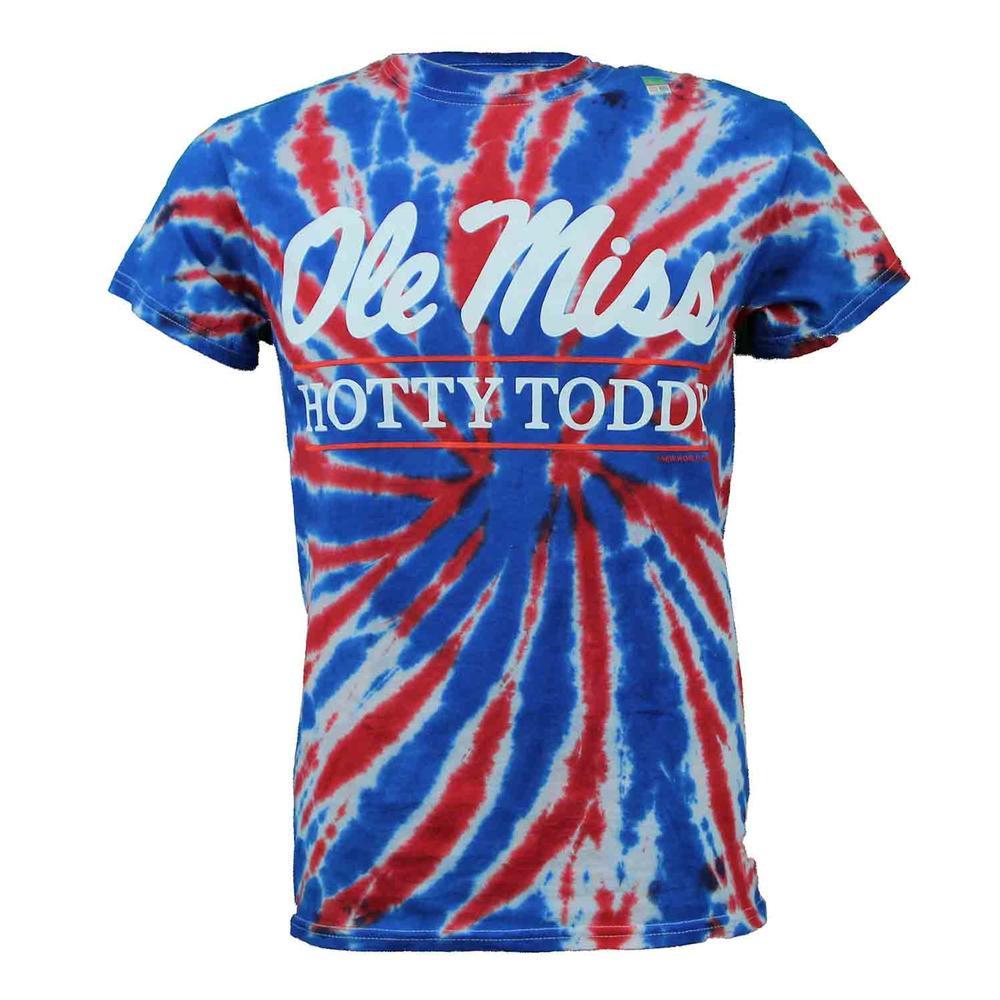Tie- Dye Ole Miss Hotty Toddy Bar Ss T- Shirt