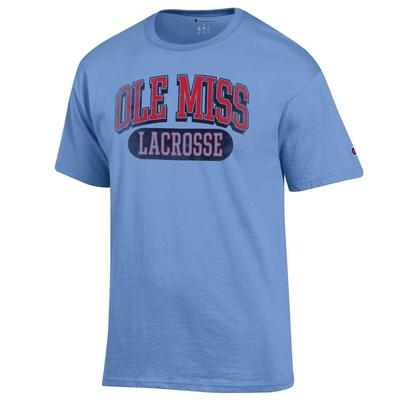 DISSTRESSED OLE MISS LACROSSE SS TEE LIGHT_BLUE
