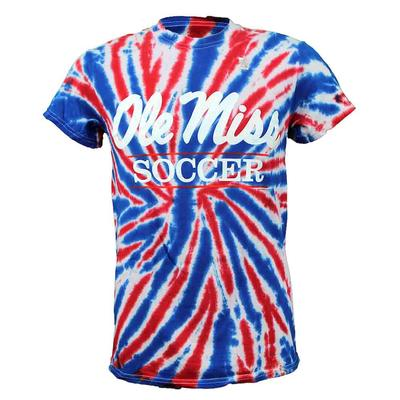 TIE-DYE OLE MISS SOCCER BAR SS T-SHIRT UNION_JACK