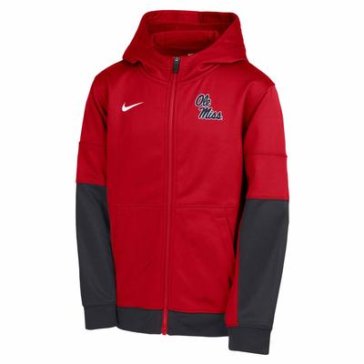 BOY OLE MISS THERMA FULL ZIP RED_GRAY