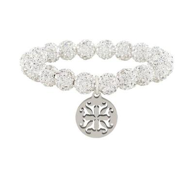 EMERSON WHITE BEADED BRACELET
