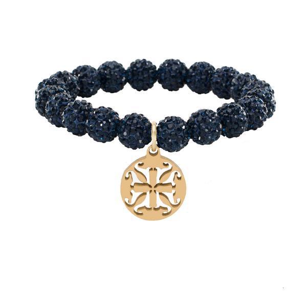 Emerson Navy Beaded Bracelet