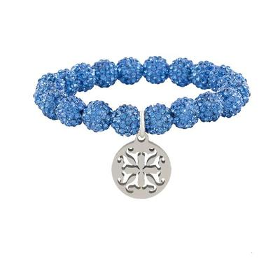 EMERSON LT BLUE BEADED BRACELET