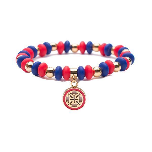 Courtney Gameday Navy Red Beaded Bracelet