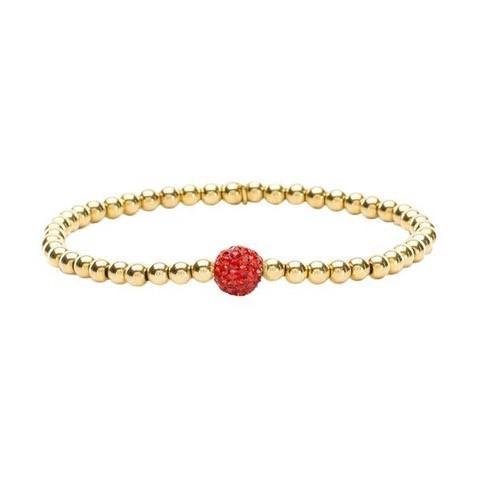 Ireland Mini Red Beaded Bracelet