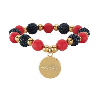 OLE MISS SADIE BEADED BRACELET