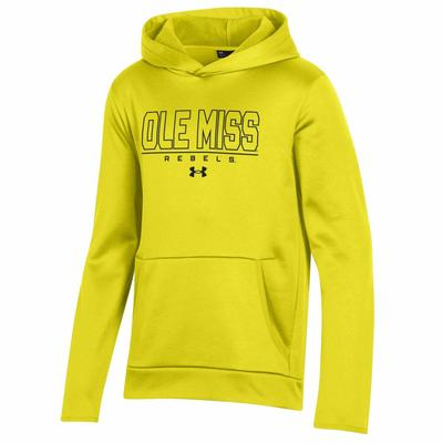 OLE MISS BRIGHT YOUTH ARMOUR FLEECE HOOD