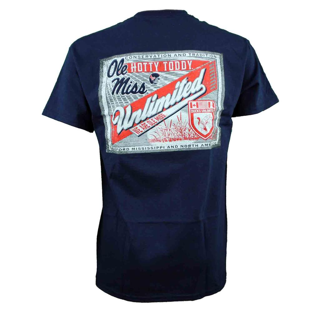 Ole Miss Ducks Unlimited Label Ss Tee