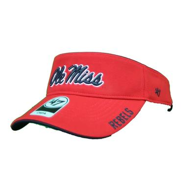OLE MISS REBELS TOP ROPE VISOR