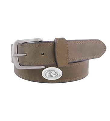 OLE MISS CONCHO PULL UP CRAZY HORSE COMBO LEATHER BELT