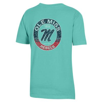 OLE MISS REBELS YOUTH GARMENT DYED SS TEE