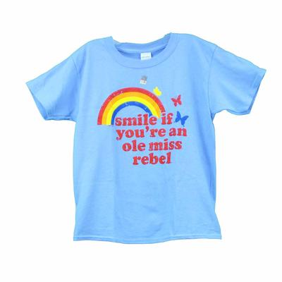 OLE MISS YOUTH RAINBOW SMILE BELLA SS TEE BLUE