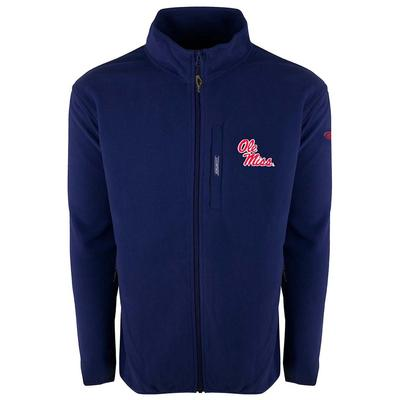 OLE MISS DRAKE FULL ZIP CAMP FLEECE