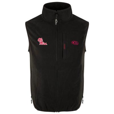 OLE MISS DRAKE CAMP FLEECE VEST