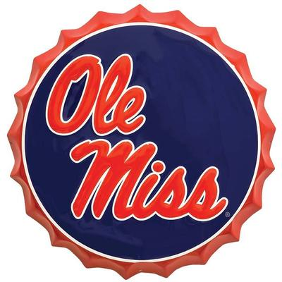 OLE MISS BOTTLE TOP SIGN