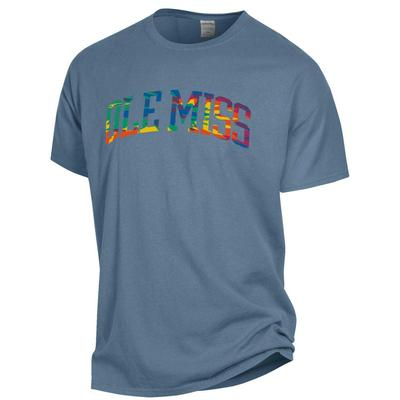 OLE MISS TIEDYE SS GARMENT DYED TEE