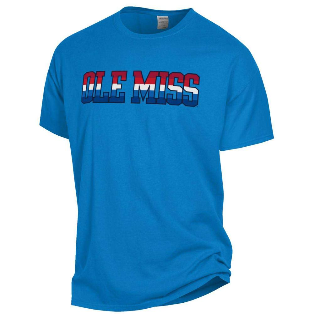 Ole Miss Garment Dyed Ss Tee