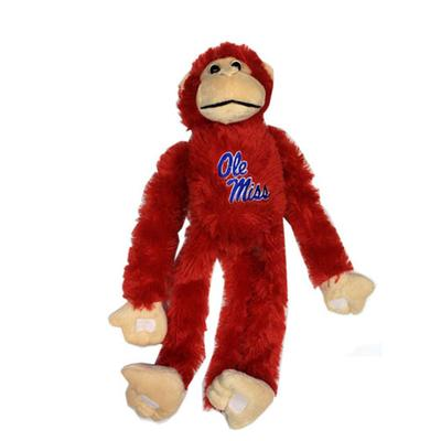 OLE MISS PLUSH MONKEY RED