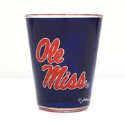 2 TONE OLE MISS SHOT GLASS