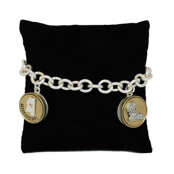 Ole Miss Bracelet 3 Disc
