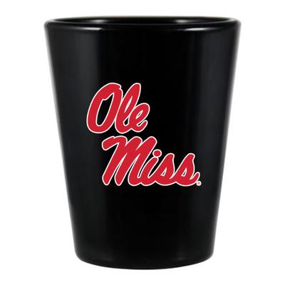 OLE MISS MATTE SHOT GLASS